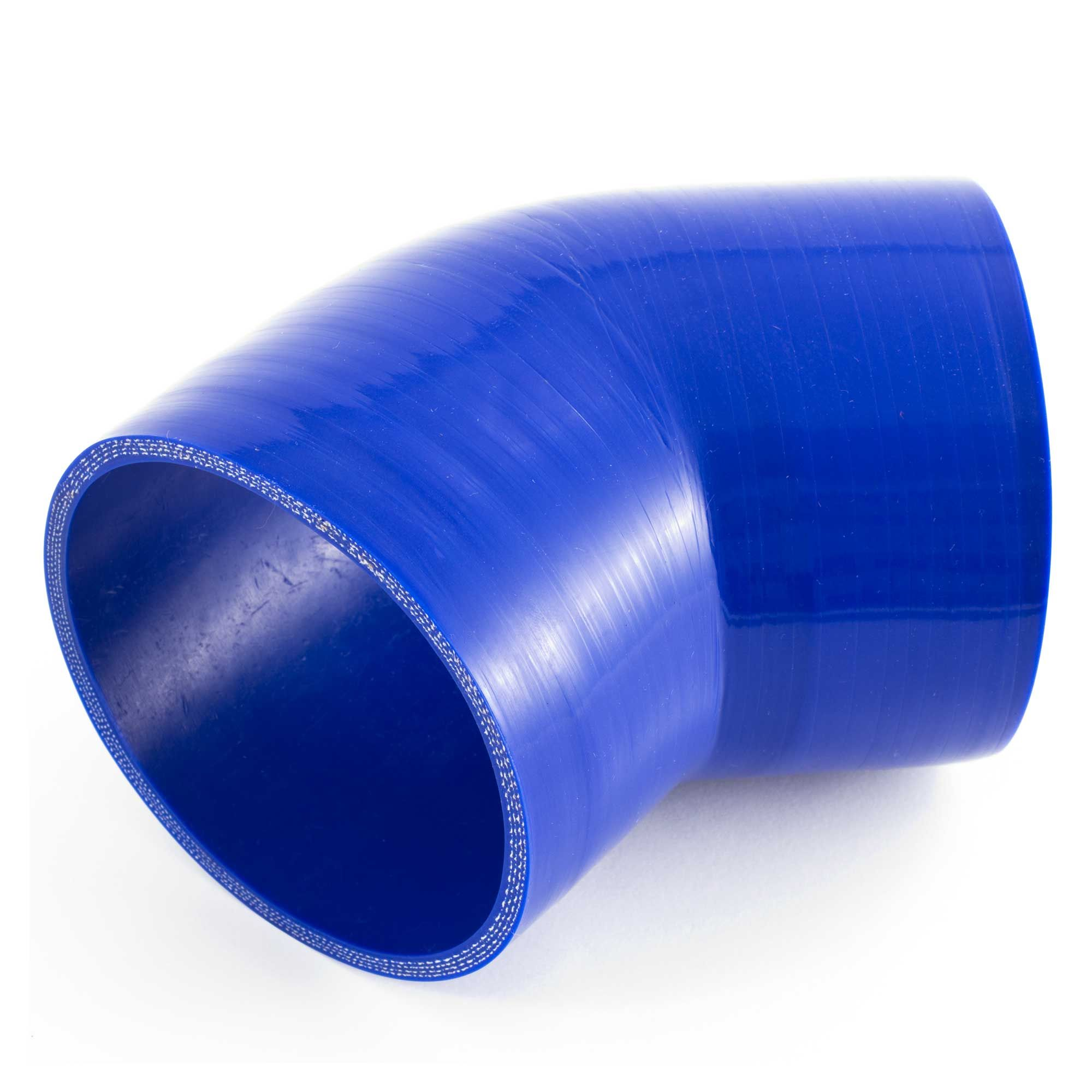 JJC 90 Degree Silicone Hose Elbow Bend 102mm Blue Rubber Coolant Radiator Pipe